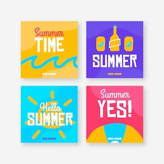 Hello summer instagram post collection