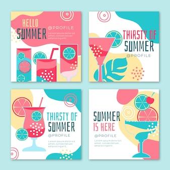 안녕하세요 여름 인스 타 그램 포스트 컬렉션