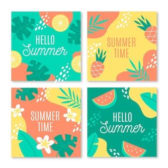 こんにちは夏instagramポストパック
