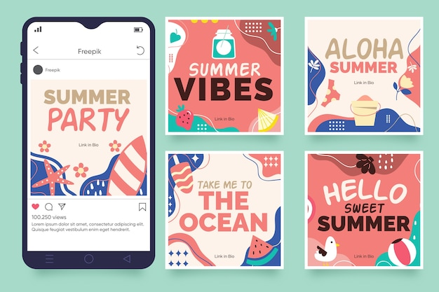 Hello summer instagram story collection