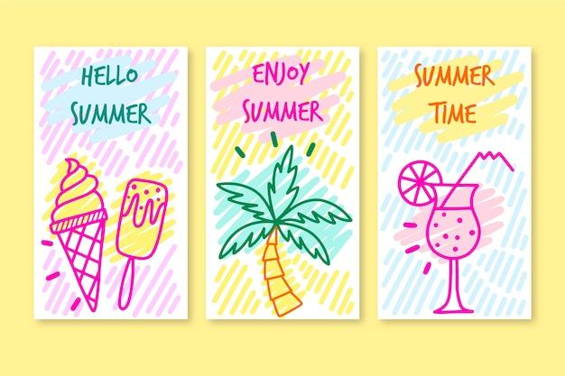 안녕하세요 여름 인스 타 그램 스토리 컬렉션