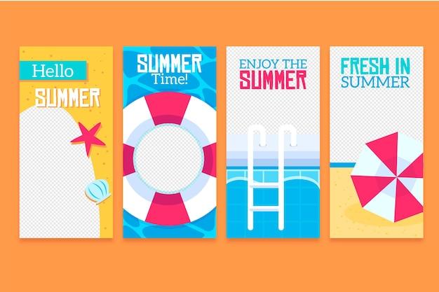 こんにちは夏instagramストーリーコレクション