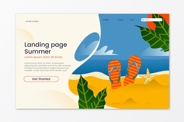 Ciao concetto di landing page estivo