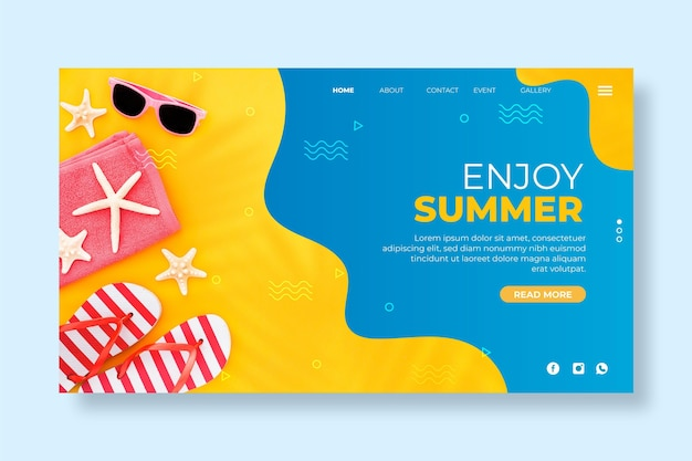 안녕하세요 여름 방문 페이지 템플릿