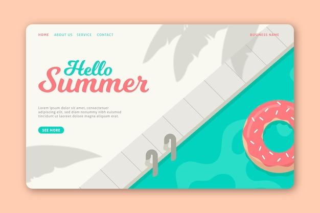 Hello summer landing page