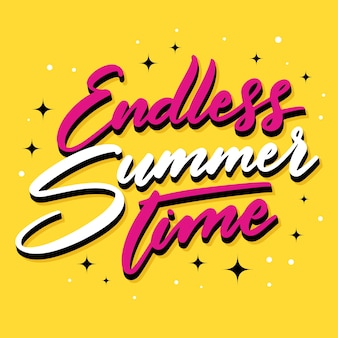 Hello summer lettering style