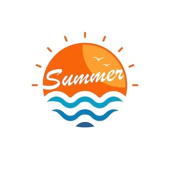 안녕하세요 여름 로고 디자인 영감