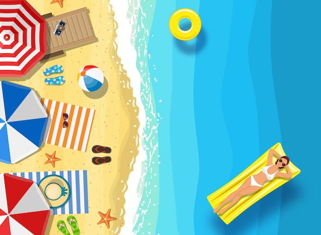 こんにちは、海洋の背景に夏のメッセージ。