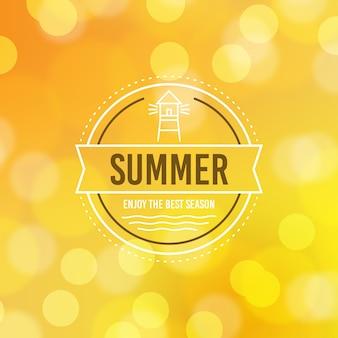 Привет лето сообщение с размытым изображением