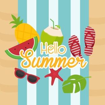 Hello summer poster