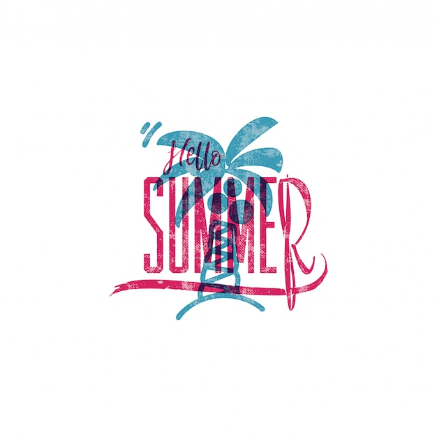 Hello summer retro sign