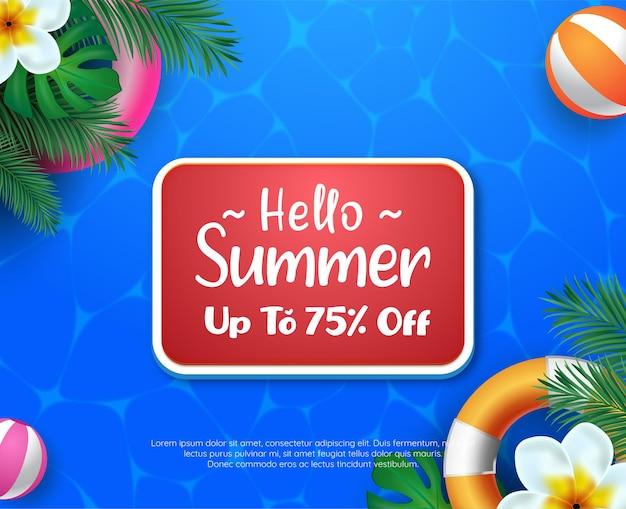Hello summer sale concept
