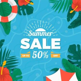 안녕하세요 여름 판매 개념