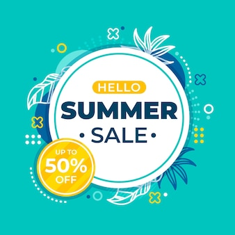 Hello summer sale concept