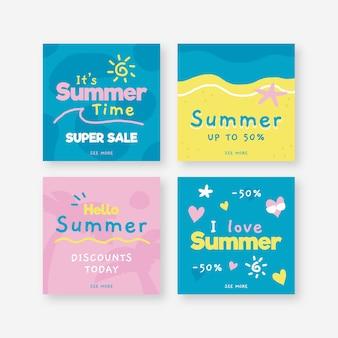 Hello summer sale instagram post collection