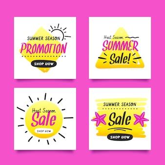 안녕하세요 여름 세일 인스 타 그램 포스트 컬렉션