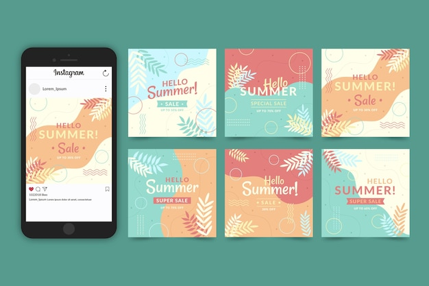 Hello summer sale instagram stories collection