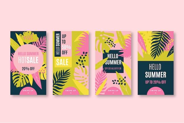 Hello summer sale instagram stories collection