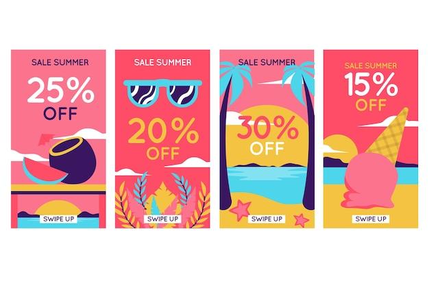 안녕하세요 여름 세일 인스 타 그램 스토리 컬렉션