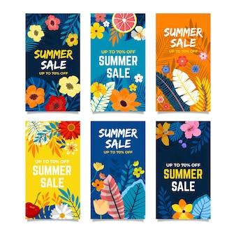 こんにちは夏のセールのインスタグラムストーリーコレクション