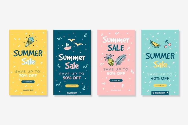 Hello summer sale instagram story pack