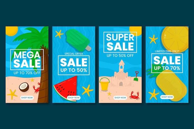 Hello summer sale instagram story template