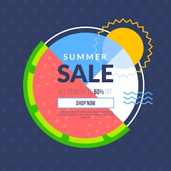 Hello summer sale with watermelon