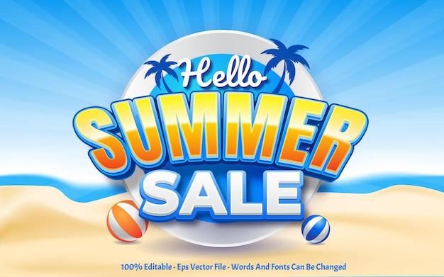 Hello summer sale