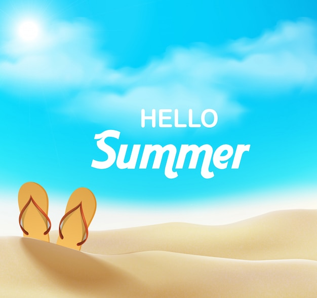 Hello summer. summer holiday background