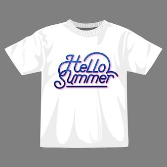 こんにちは夏のtシャツのデザイン