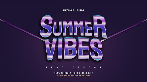 Hello summer text in colorful retro style with curved effect. editable text style effect