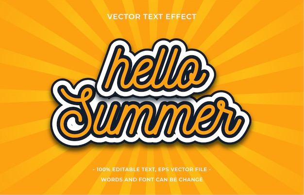 Привет лето текстовый эффект
