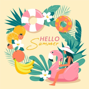 Hello summer theme