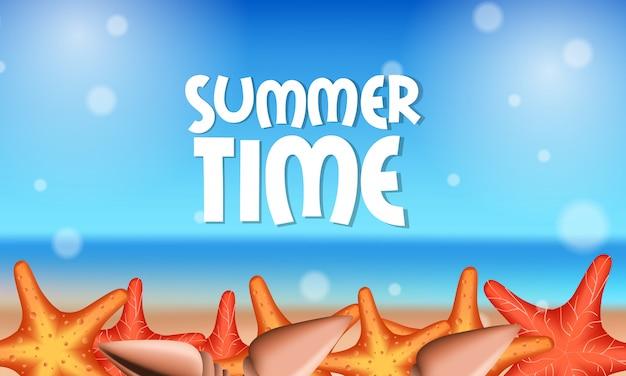 Hello summer time beach starfish
