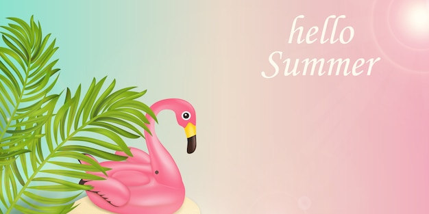 Hello summer time holiday typographic