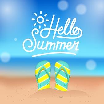 Hello summer tropical beach