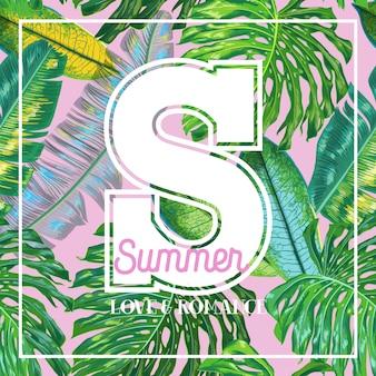 Hello summer tropical design