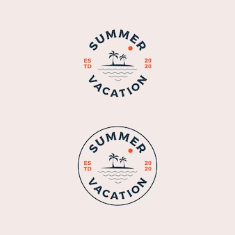 こんにちは夏休みのロゴデザイン