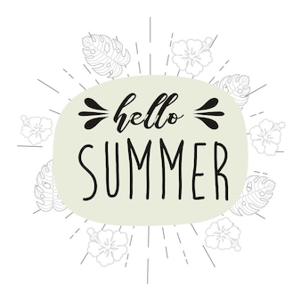 Hello summer vector illustration