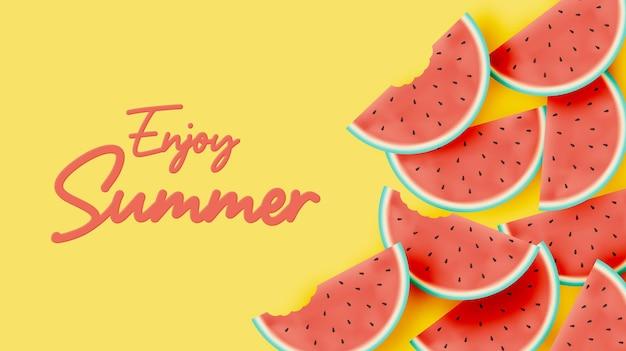 안녕하세요 여름 수박