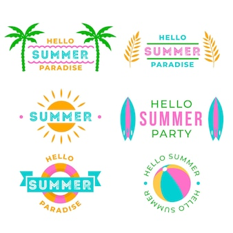 Hello summertime party label collection