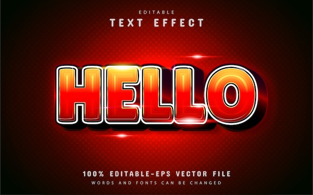 Hello text effect with gradient