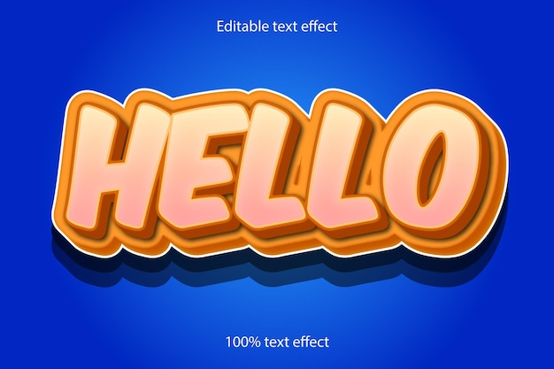 Hello text effect