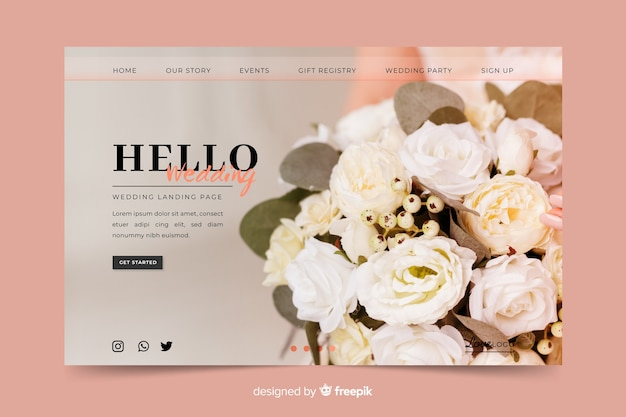 Hello wedding landing page