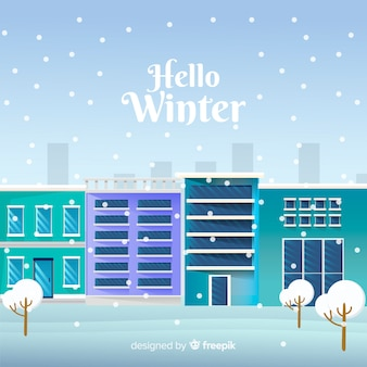 Hello winter background