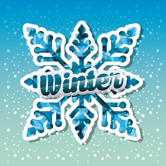 Hello winter design, vector illustration eps10 graphic