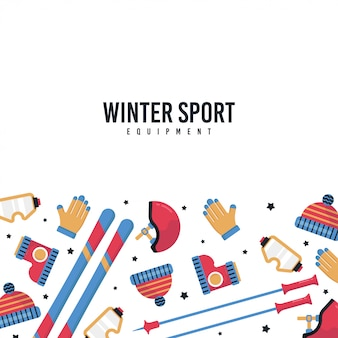 Hello winter illustration with flat icon