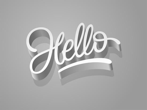 Hello word calligraphy design