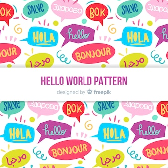 Hello word pattern in different languages