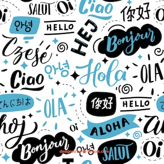 Hello words pattern in differente languages